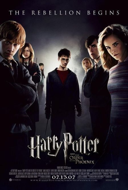 4 stars ==> #6 of 50: Harry Potter and the Order of the Phoenix [2007 -- 138min]. DVD. The Harry Potter story continues... I haven't read the books from this point on, so I can't really compare as to how the movie was adapted.