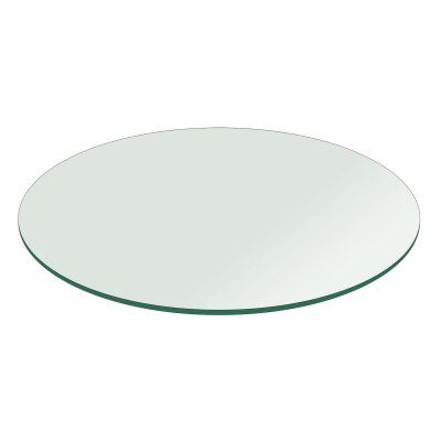 Fab Glass and Mirror Round 0.75 in. Thick Flat Polish Tempered Glass Table Top - T-48RD19MMFLTE