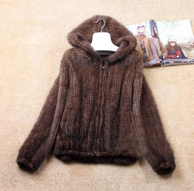 Hot Sales Real Knit Mink Fur Jacket For Women Top Fashion Natural Mink Coat 2015 New Brand Real Fur Coat Size L-6XL US $149.99-190.99 /piece To Buy Or See Another Product Click On This Link  http://goo.gl/IdJFhm