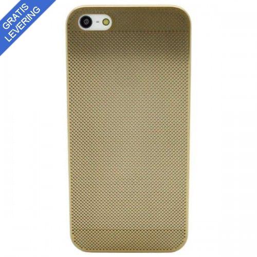 Perforeret iPhone 5/5S Aluminium Cover - Guld