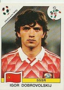 Igor Dubrovolski of USSR. 1990 World Cup Finals card.