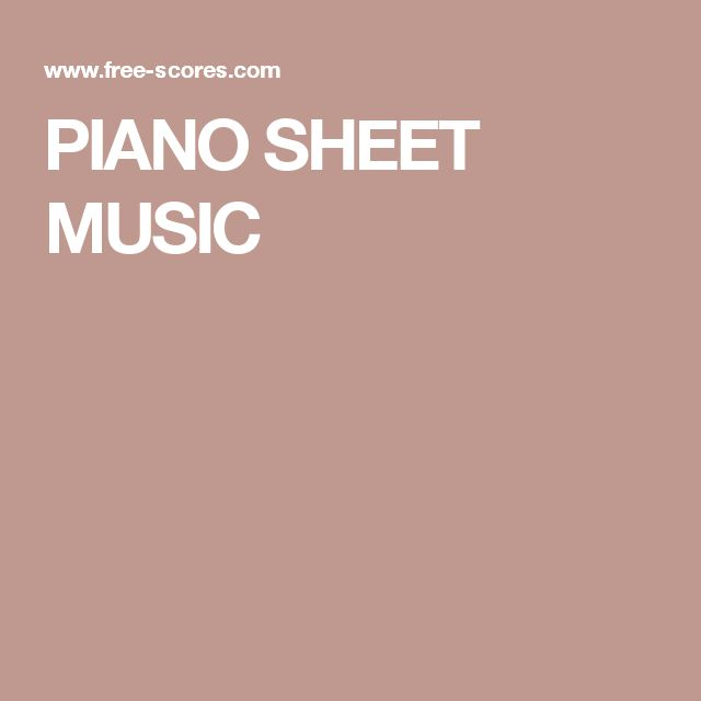 Best 25 Easy Piano Sheet Music Ideas On Pinterest: 25+ Best Ideas About Piano Sheet Music On Pinterest