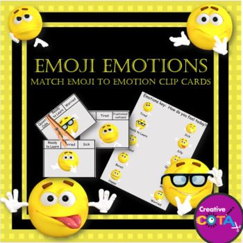 Emoji Emotions clip cards. This is an individual activity from my Emoji Emotions bundle, which also includes my free Emoji Emotions Classroom Check-in Key.Emoji Emotions BundleActivities can be used with any self-regulation, behavior or social curriculum (Zones of Regulation™️, PBIS™️, SEL™️, How Does Your Engine Run™️…)