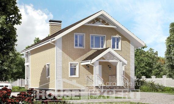 150-007-Л Проект двухэтажного дома мансардой, небольшой дом из твинблока