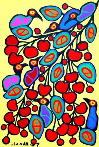 Norval Morrisseau - Cherry Branch