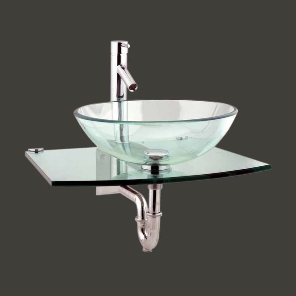 Unique Tempered Glass Wall Mount Vessel Sink Clear Durable Renovator S Supply Wallmountvesselsink Glass Sink Sink Small Bathroom Sinks