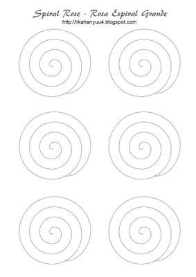 Lika Hanyuu - Artesanato - Quilling: [Quilling Pattern] Spiral Rose - Rosa Espiral (Molde)