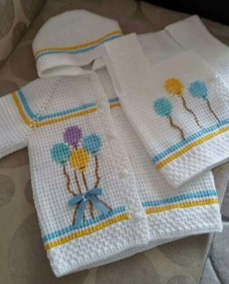 Tunus İşi Bebek Hırka Modelleri (İstek Üzerine)