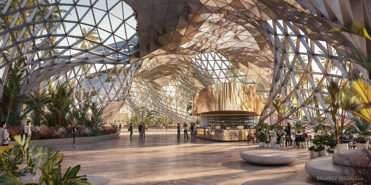 Triangular pavilion on Behance