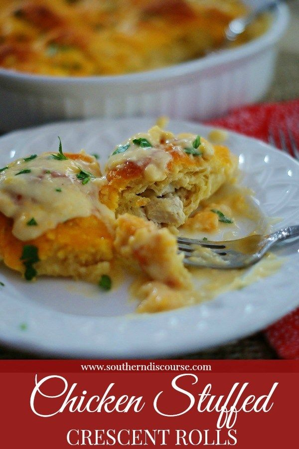 Chicken Stuffed Crescent Rolls Recipe Casseroles Pinterest