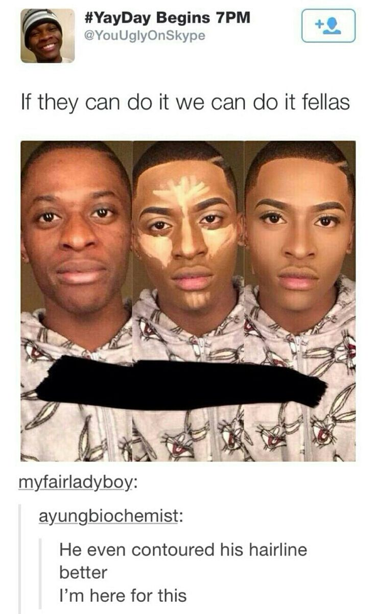 This guy contoured his face PERFECTLY