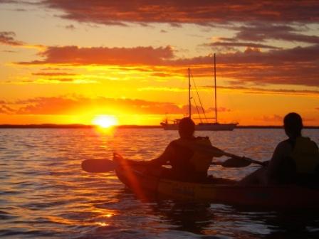 sunset kayaking in 1770, Australia I did this...