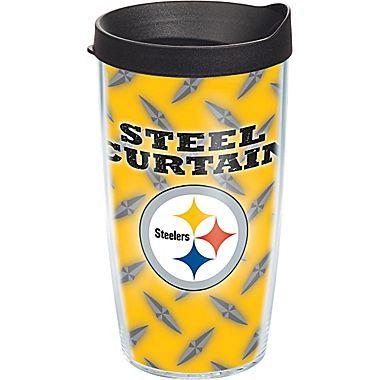 Tervis Tumbler NFL Pittsburgh Steelers Steel Curtain Tumbler w/ Lid; 16 oz.