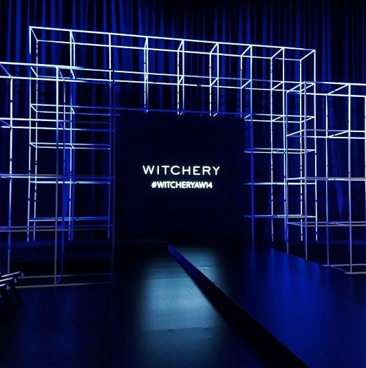 Witchery fashion show, led block stage