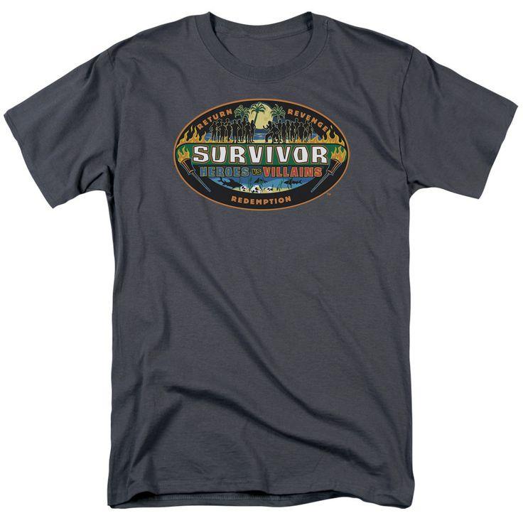 Survivor Heroes vs. Villains Charcoal T-Shirt