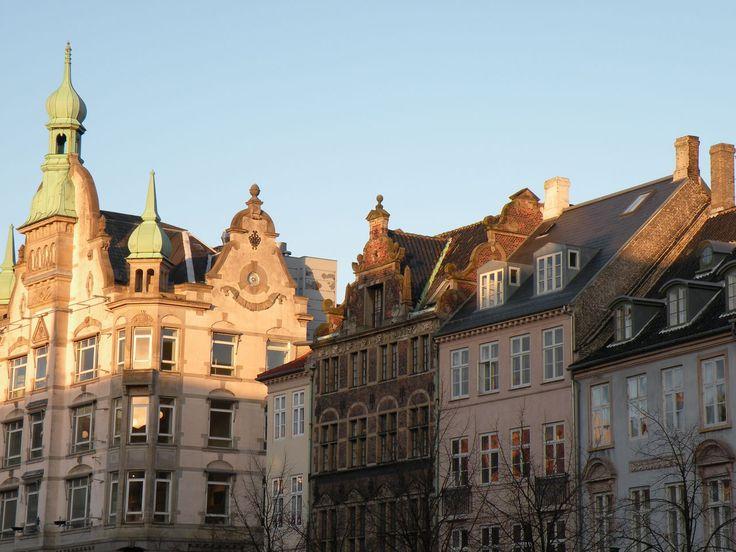 Old Houses on Højbro Square - Gamle huse på Højbro Plads