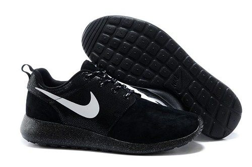 2014 roshe run 511882 110 black white men outdoor running shoes