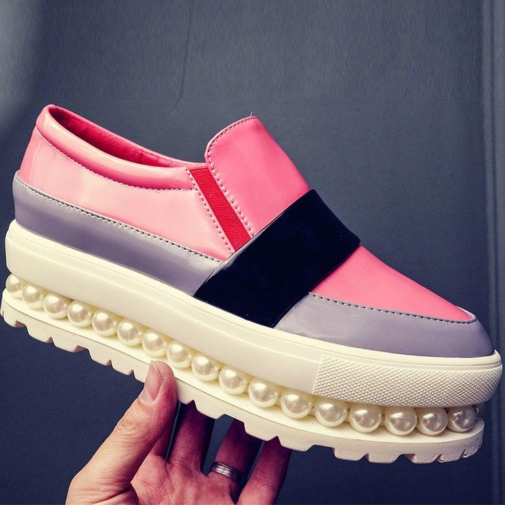 (39.19$)  Buy here  - AIWEIYi Women Flats Spring Autumn Shoes Woman Slip On Loafers Woman Platform Flat Shoe Black Pink Flats Shoes for Women