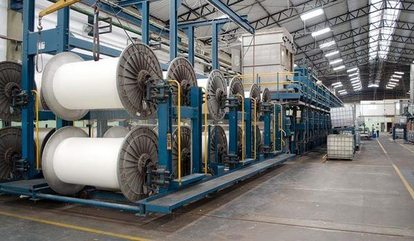 Textile dyeing and washing plant