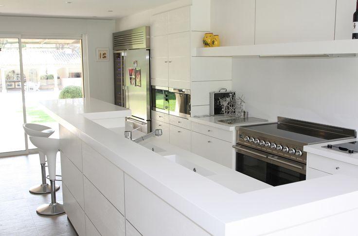Les 25 meilleures id es de la cat gorie plan de travail resine sur pinterest cuisine r sine - Plan de travail cuisine en resine de synthese ...