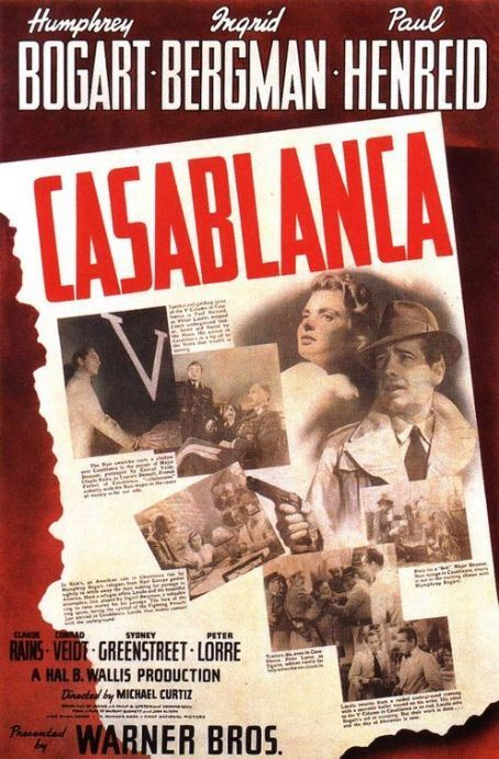 Movie poster for Casablanca  Film Movie PostersMags
