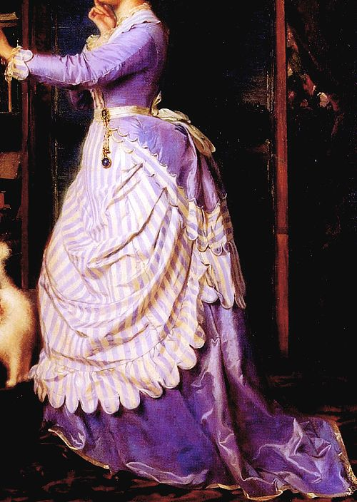 INCREDIBLE DRESSES IN ART (83/∞) An Indecisive Moment by Charles-Édouard Boutibonne, 1869