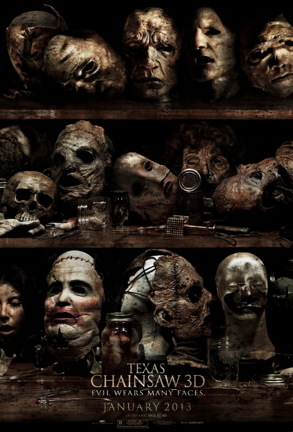 Texas Chainsaw 3D (2013) Directed by John Luessenhop. Being the seventh film in the franchise I didn't really expect anything from it and 3D never appeals to me. There are some gory kills, but the movie is a huge mess!