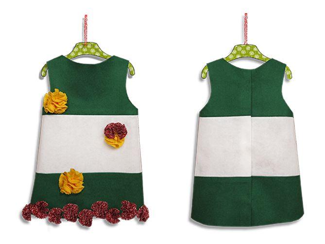 Disfraz de Andalucía. Fieltro. Tutorial con patrones.#disfraz, disfraces para bebés y niños,#Andalucía,#fieltro.