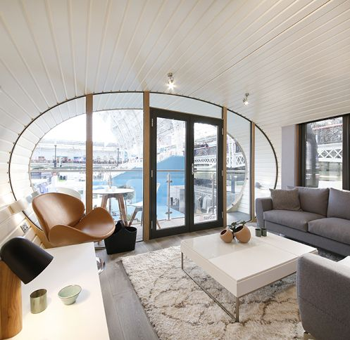 For the Ideal Home Show in London, BoConcept collaborated with Green Unit to furnish their modular and energy-efficient ARC home.
