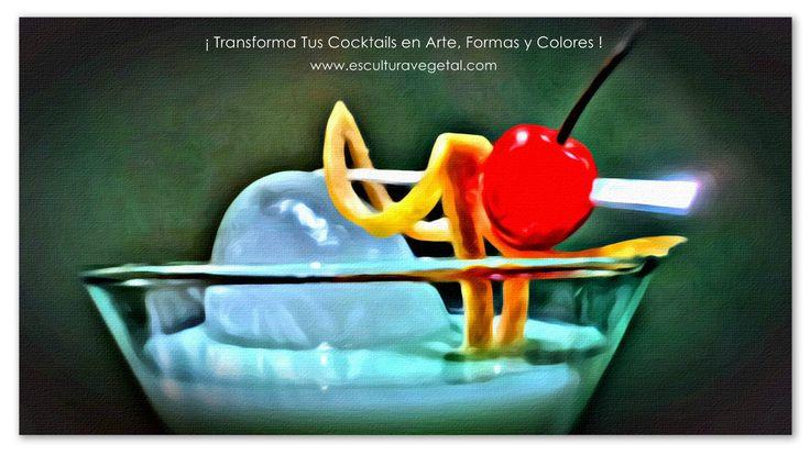 ¡ Transforma Tus Cocktails en Arte, Formas y Colores !  ¡ Nuestra meta es proporcionarte los recursos que necesites para el éxito en tus presentaciones de cocktails, platos y buffets! www.esculturavegetal.com