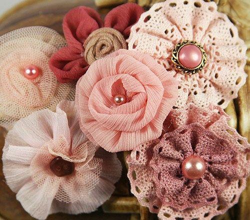 Madrigal Blossom Maestro Lila Blüten in Pink von BlissfulSilks   – Basteln