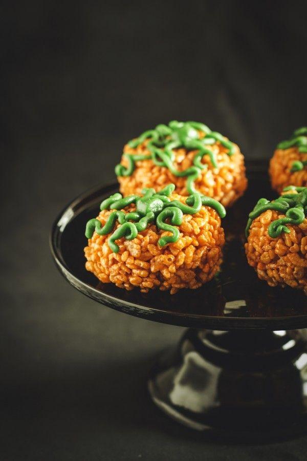 zucche di riso soffiato - Halloween - ricetta Halloween - Tutorial