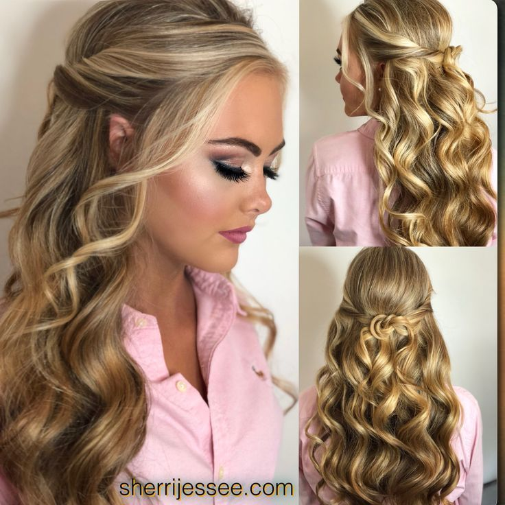 Beautiful Half-up Prom or Pageant Hair  www.pinstagram.xy #stunning #blonde #