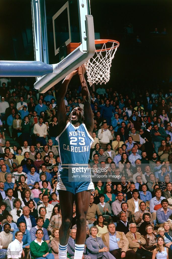 Michael Jordan #23 of the University of North Carolina during a game in December, 1981.