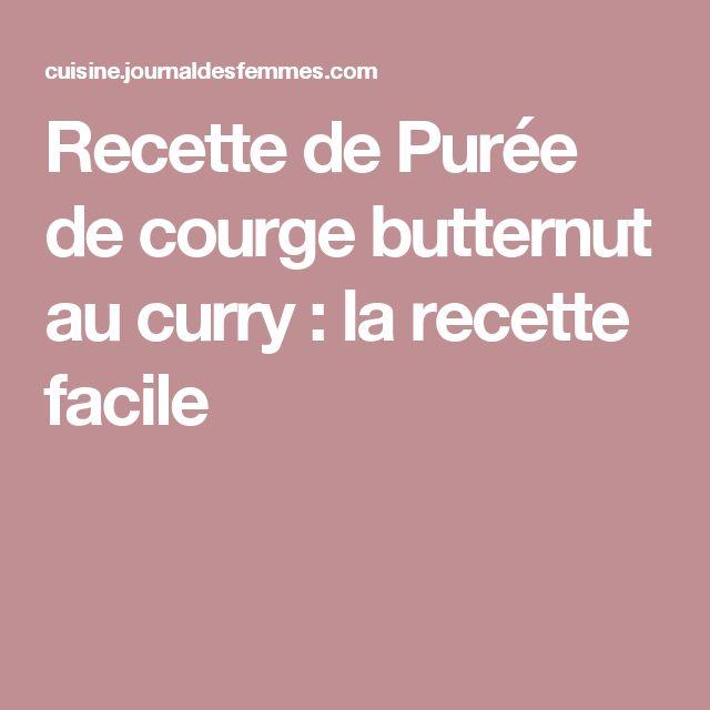 Recette de Purée de courge butternut au curry : la recette facile