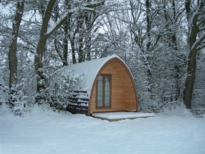 Snowy pod in Winchester