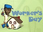 Día de los Trabajadores en un chulo salvapantallas gratis
