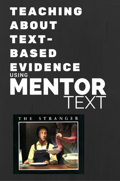 Upper Grades Mentor Text Lesson: Text-based Evidence 4.RL1 5.RL.1 6.RL.1 - Performing in Education