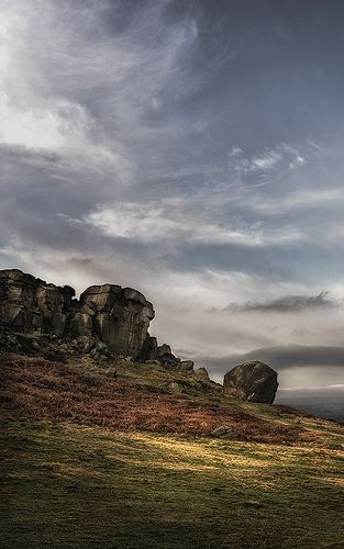 Cow & Calf - Ilkley Moor, West Yorkshire. Climbed this a time or two