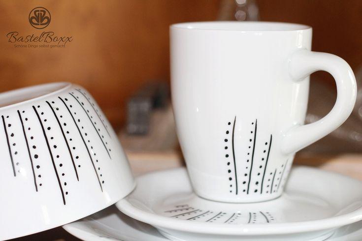 die besten 25 bemaltes porzellan ideen auf pinterest handbemalte tassen sharpie. Black Bedroom Furniture Sets. Home Design Ideas