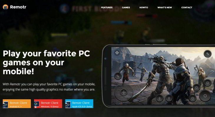 AppsUser: Remotr Game Streaming, juega en tu dispositivo móvil los juegos de tu OC