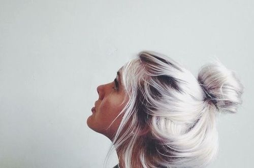 platinum #hair #hairstyle
