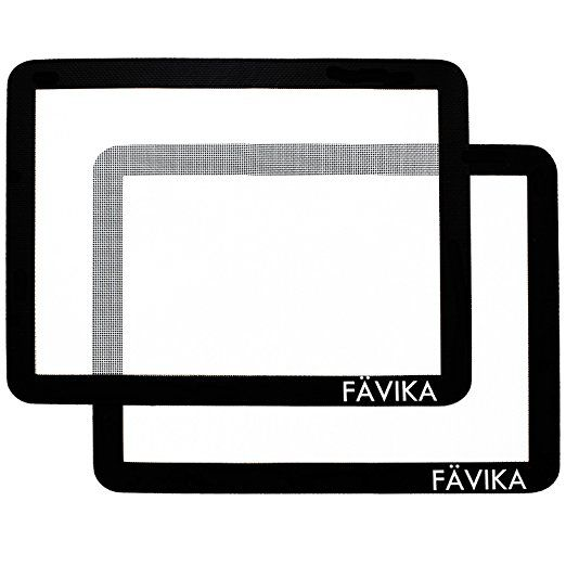 Silicone Baking Mat Set (x2) 100% Non Stick - Lifetime Guarantee! - Reusable - (28cm x 38cm) Easy to Clean - Heat Resistant - Silicone Baking Sheet - Extra Strong With Fibreglass Mesh - Baking Sheet Liners - FDA (Food Safe) Approved Silicone - Professional Grade Bakeware by FAVIKA - BRITISH OWNED