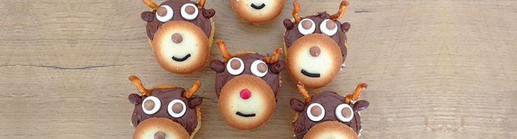 Vrolijke cupcakes in de vorm van een rendier!