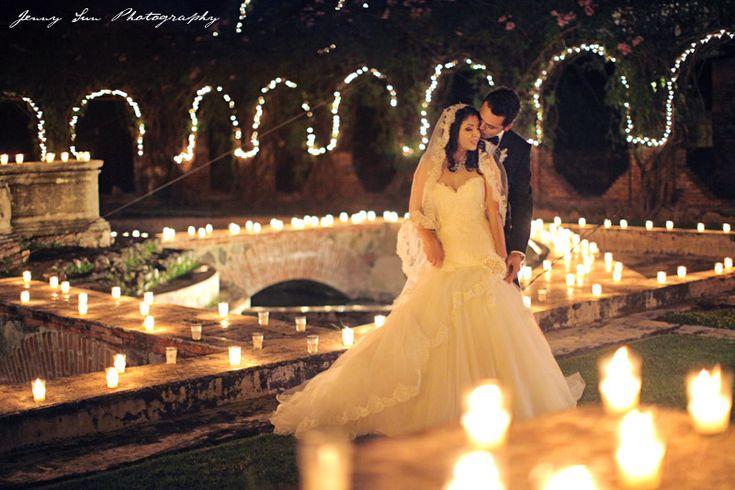 Candles everywhere    Guatemala Destination Wedding: Analy & Jose - Jenny Sun Photography Blog