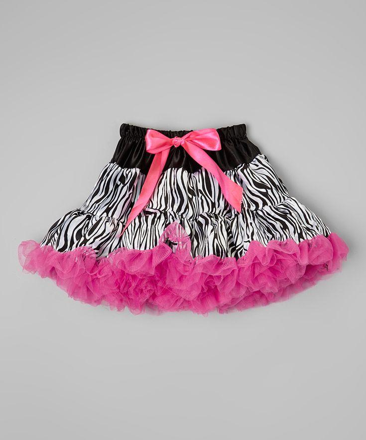 Black & Pink Zebra Tutu - Infant & Toddler