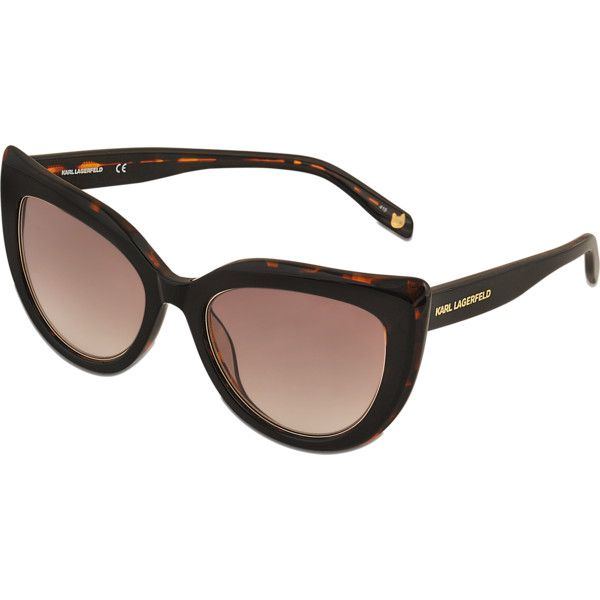 Karl Lagerfeld KL906S Metal Details sunglasses (1112405 PYG) ❤ liked on Polyvore featuring accessories, eyewear, sunglasses, black, karl lagerfeld eyewear, karl lagerfeld sunglasses, karl lagerfeld glasses and karl lagerfeld