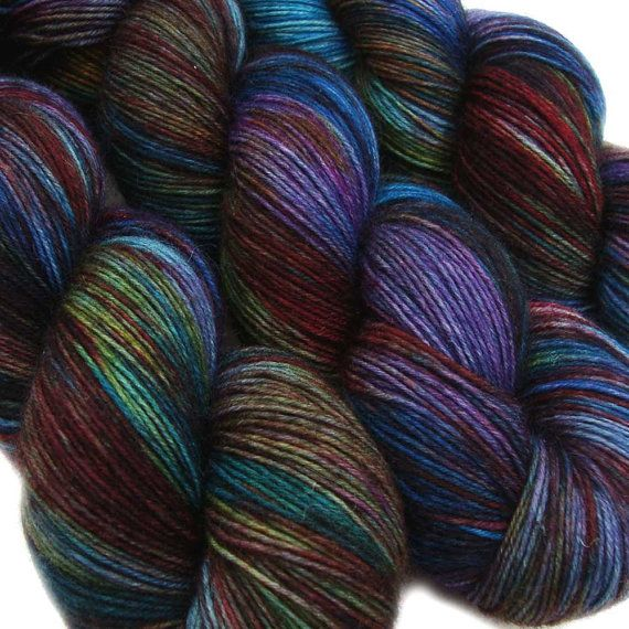 DESTINATIONS basic sock yarn STOCKHOLM 75/25 by lanitiumexmachina, $20.00 - I just can NOT get away from these verigated yarns.