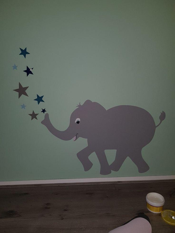 7 beste afbeeldingen van Muurdecoratie babykamer olifant