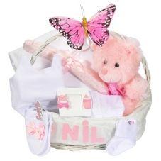 İsme özel bebek hediye sepeti ile en güzel Doğum hediyesini siz verin. Yenidoğan bebek hediye sepetleri ile bebekler çok mutlu